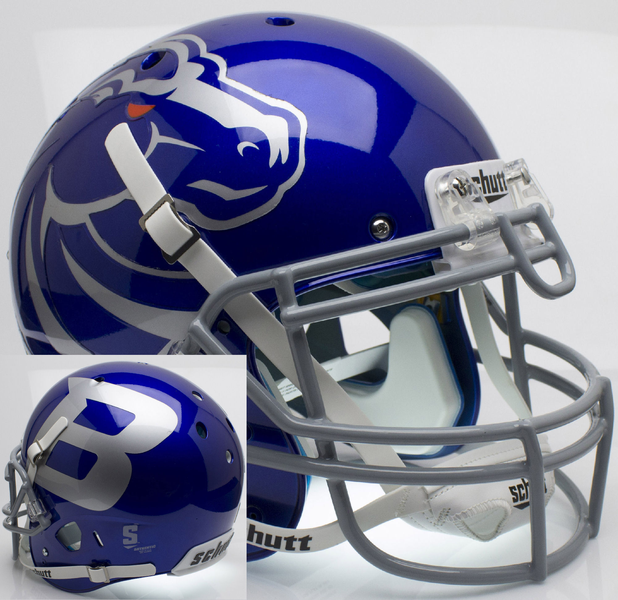 Boise State Broncos Authentic College XP Football Helmet Schutt <B>Blue</B>