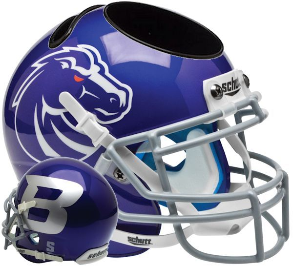 Boise State Broncos Miniature Football Helmet Desk Caddy <B>Blue</B>