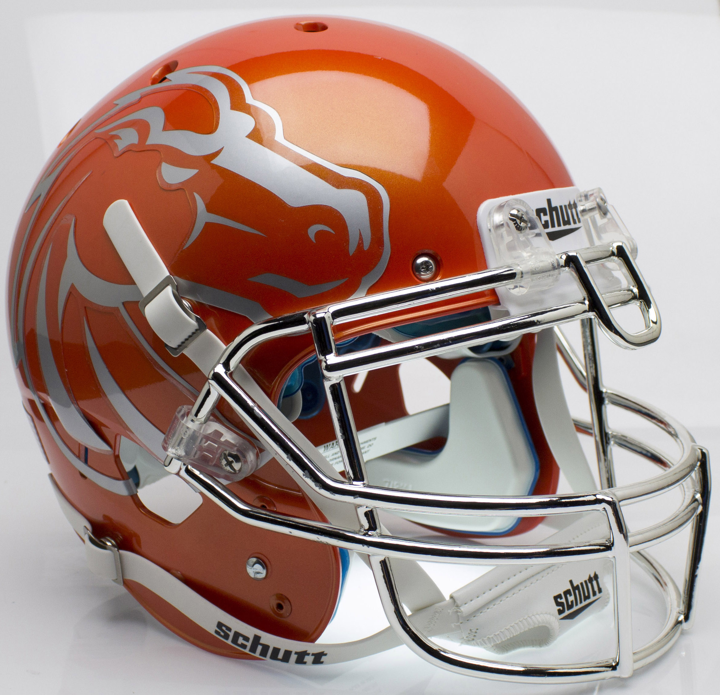 Boise State Broncos Authentic College XP Football Helmet Schutt <B>Orange with Chrome Mask</B>