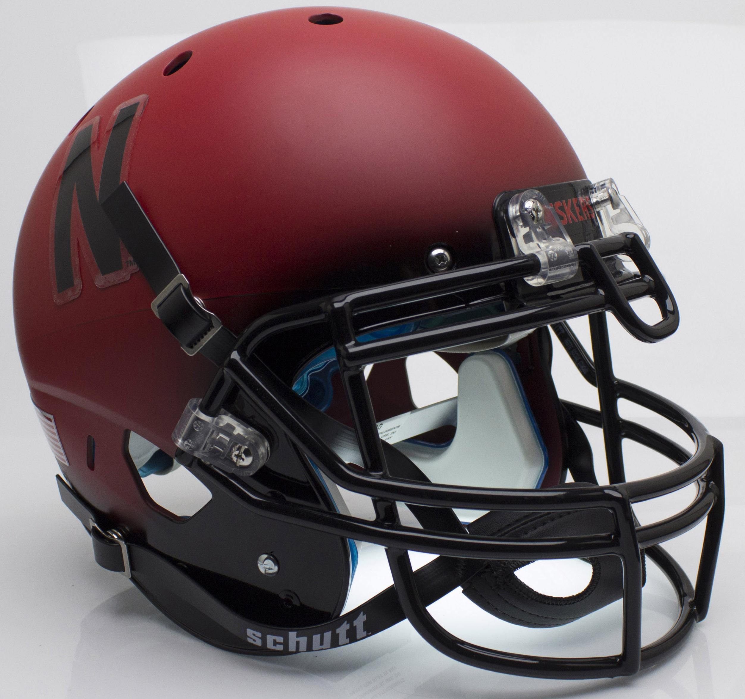 Nebraska Cornhuskers Authentic College XP Football Helmet Schutt <B>Red and Black</B>