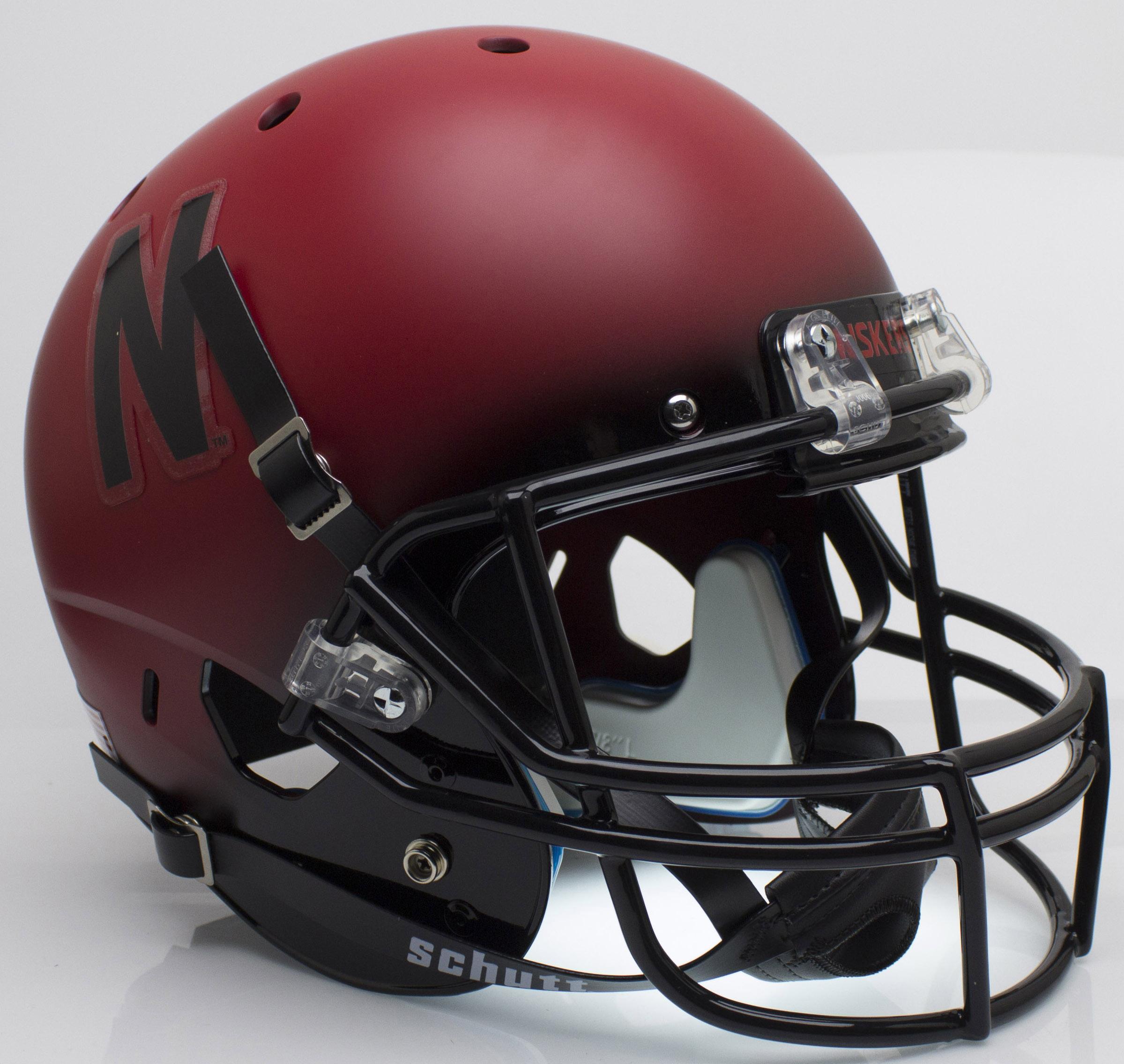 Nebraska Cornhuskers Full XP Replica Football Helmet Schutt <B>Red and Black</B>