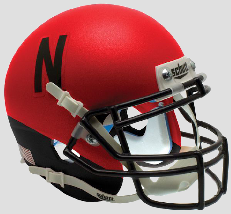 Nebraska Cornhuskers Mini XP Authentic Helmet Schutt <B>Red and Black</B>