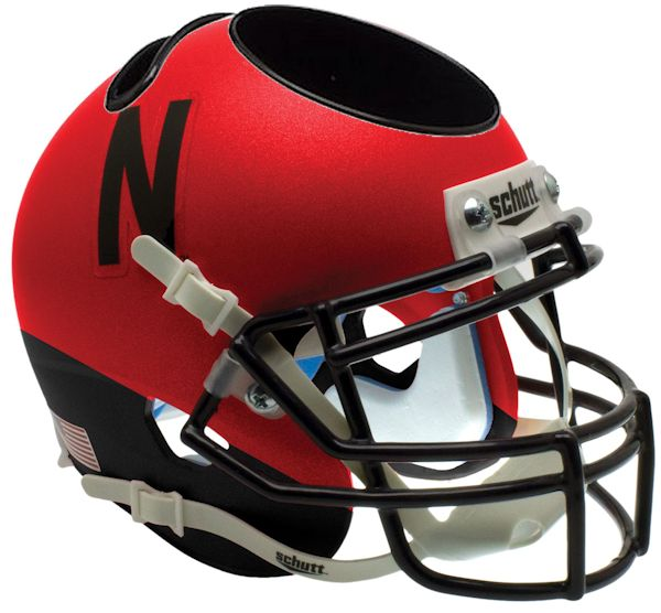 Nebraska Cornhuskers Miniature Football Helmet Desk Caddy <B>Red and Black</B>