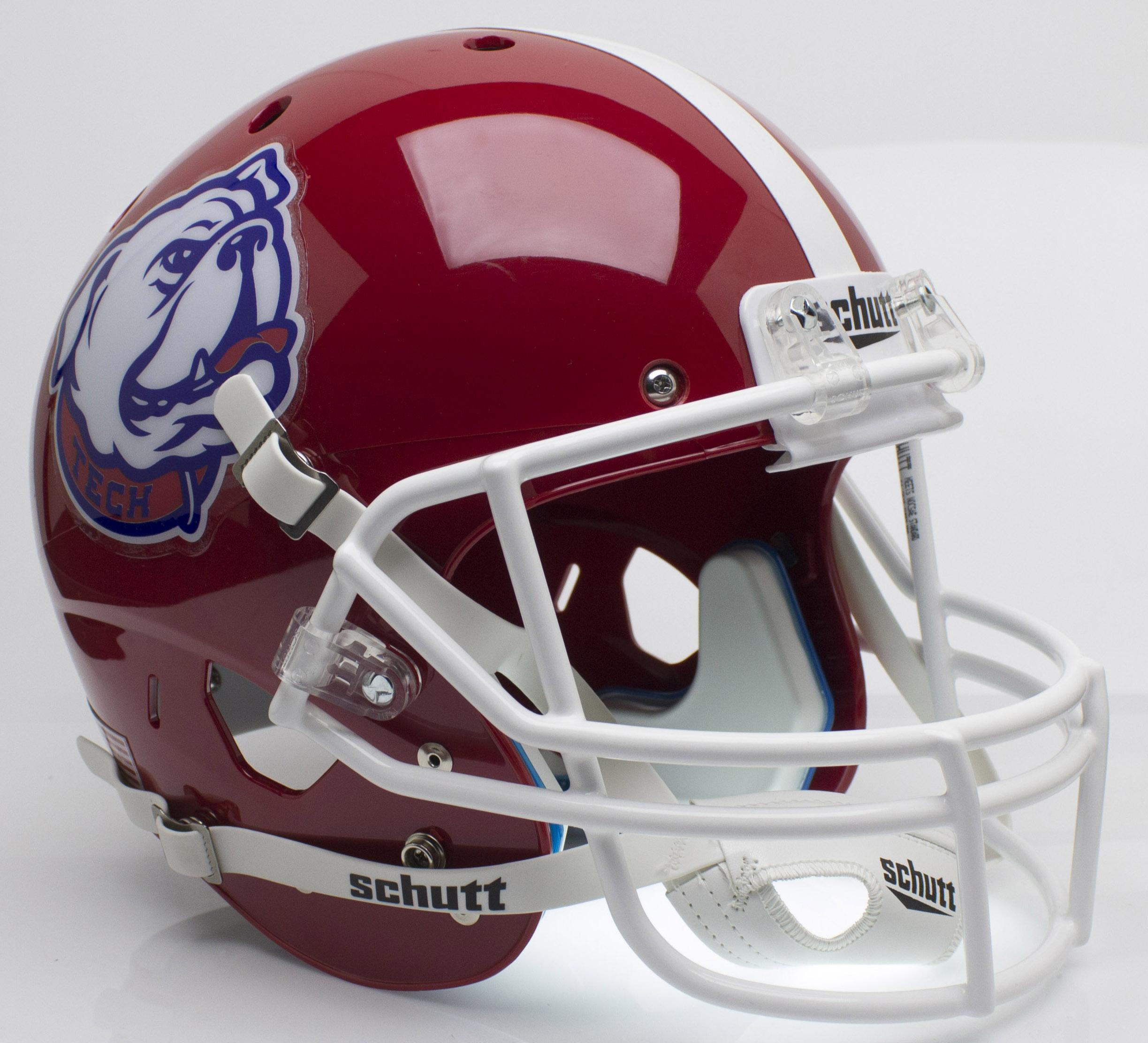 Louisiana Tech Bulldogs Full XP Replica Football Helmet Schutt <B>Bulldog</B>