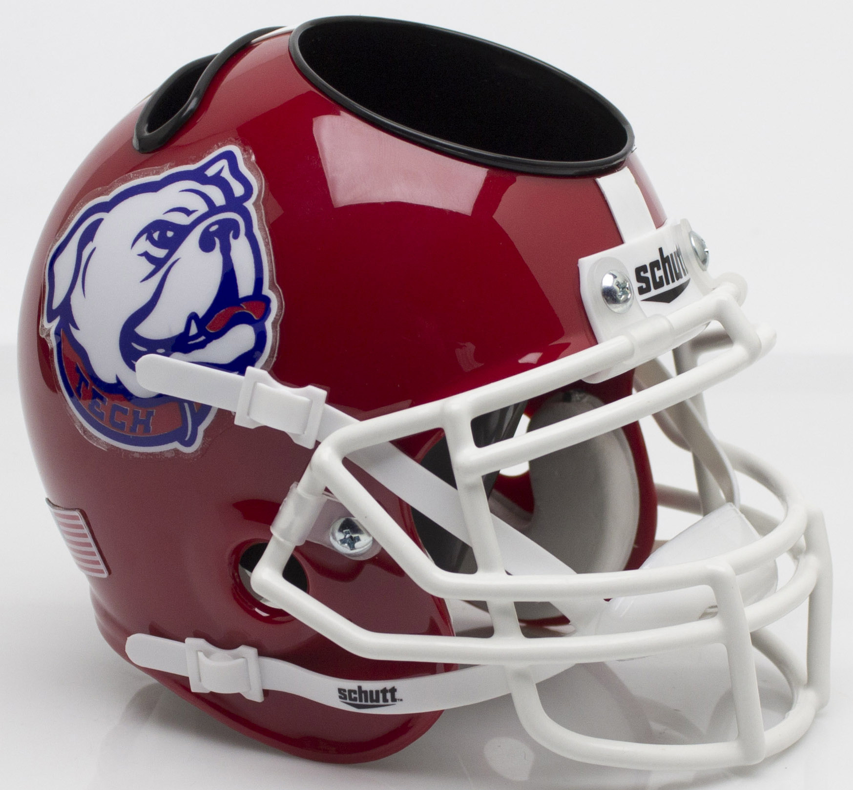 Louisiana Tech Bulldogs Miniature Football Helmet Desk Caddy <B>Bulldog</B>