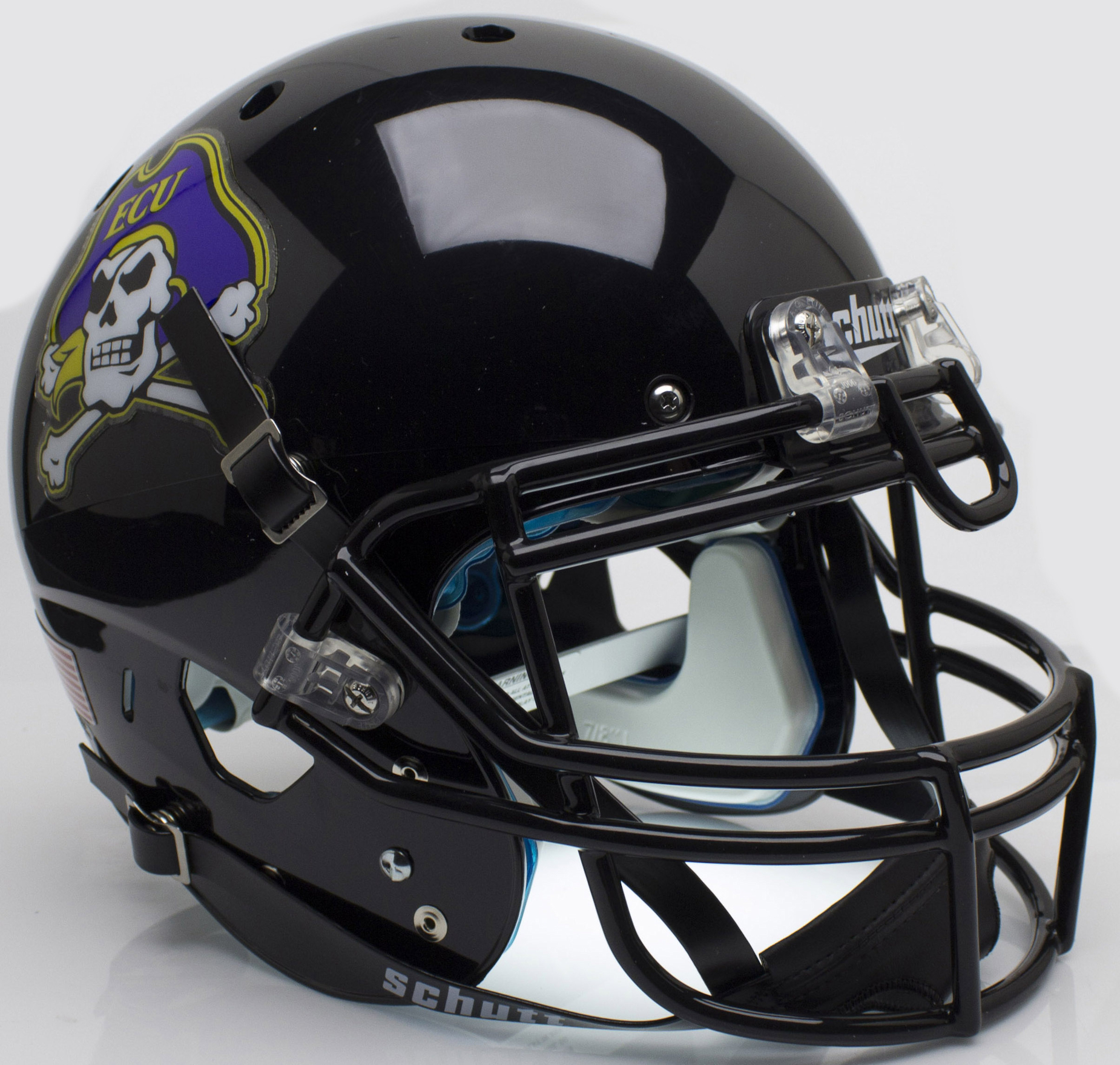 East Carolina Pirates Authentic College XP Football Helmet Schutt <B>Black</B>