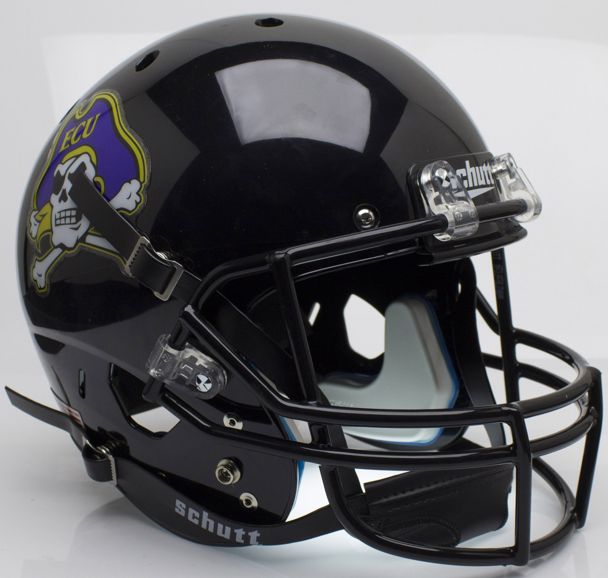 East Carolina Pirates Full XP Replica Football Helmet Schutt <B>Black</B>