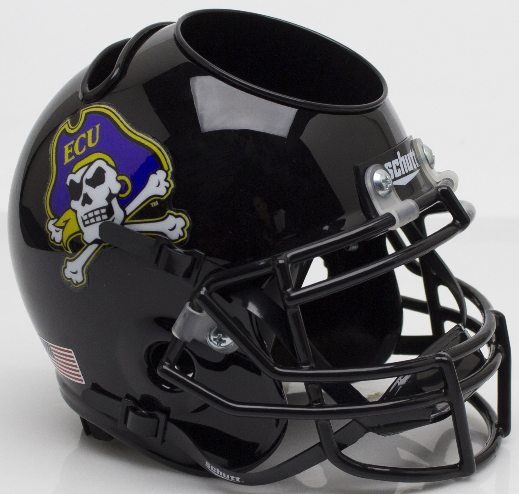 East Carolina Pirates Miniature Football Helmet Desk Caddy <B>Black</B>