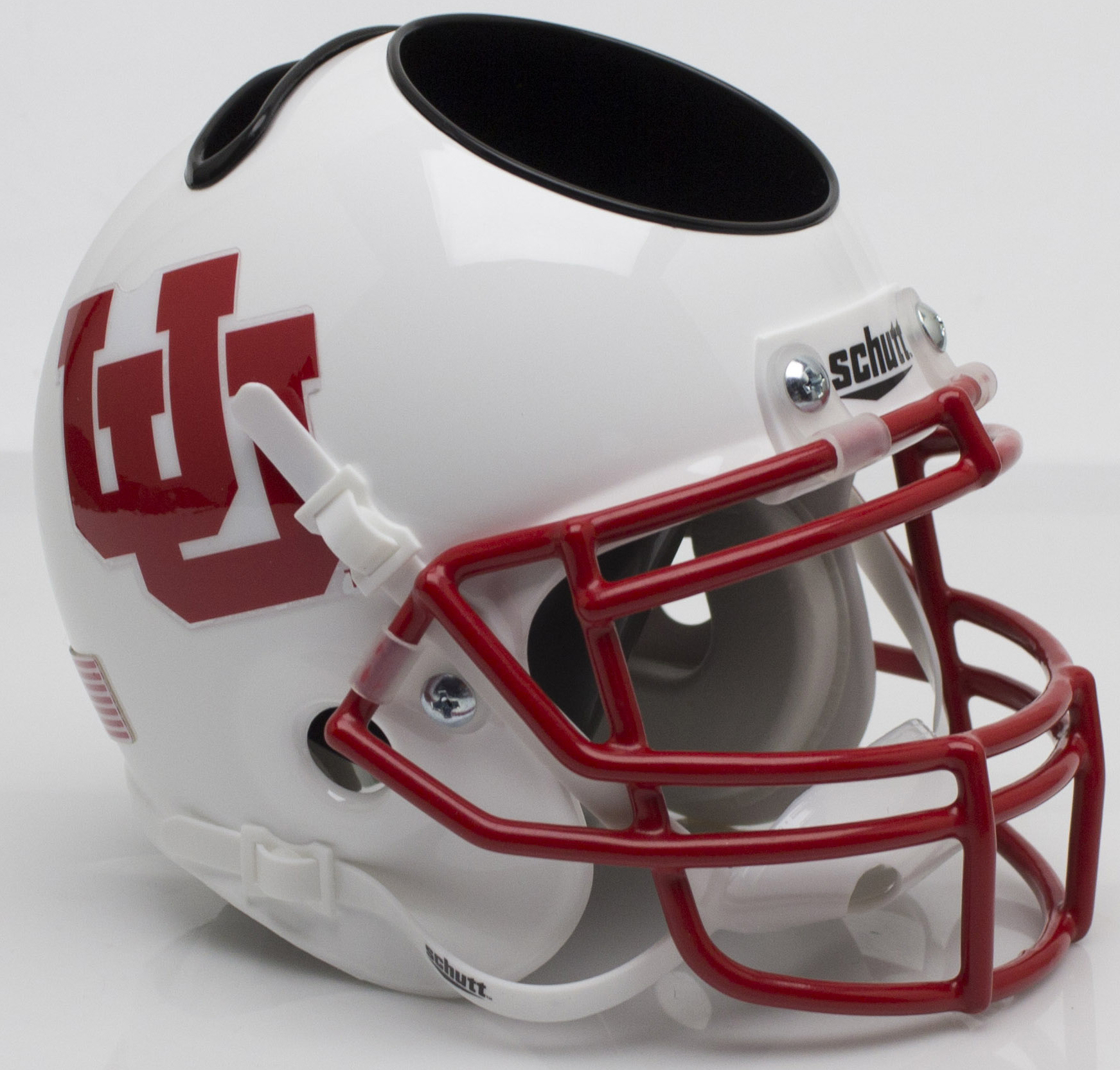 Utah Utes Miniature Football Helmet Desk Caddy <B>White UU</B>