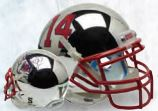 Fresno State Bulldogs Authentic College XP Football Helmet Schutt <B>Chrome</B>