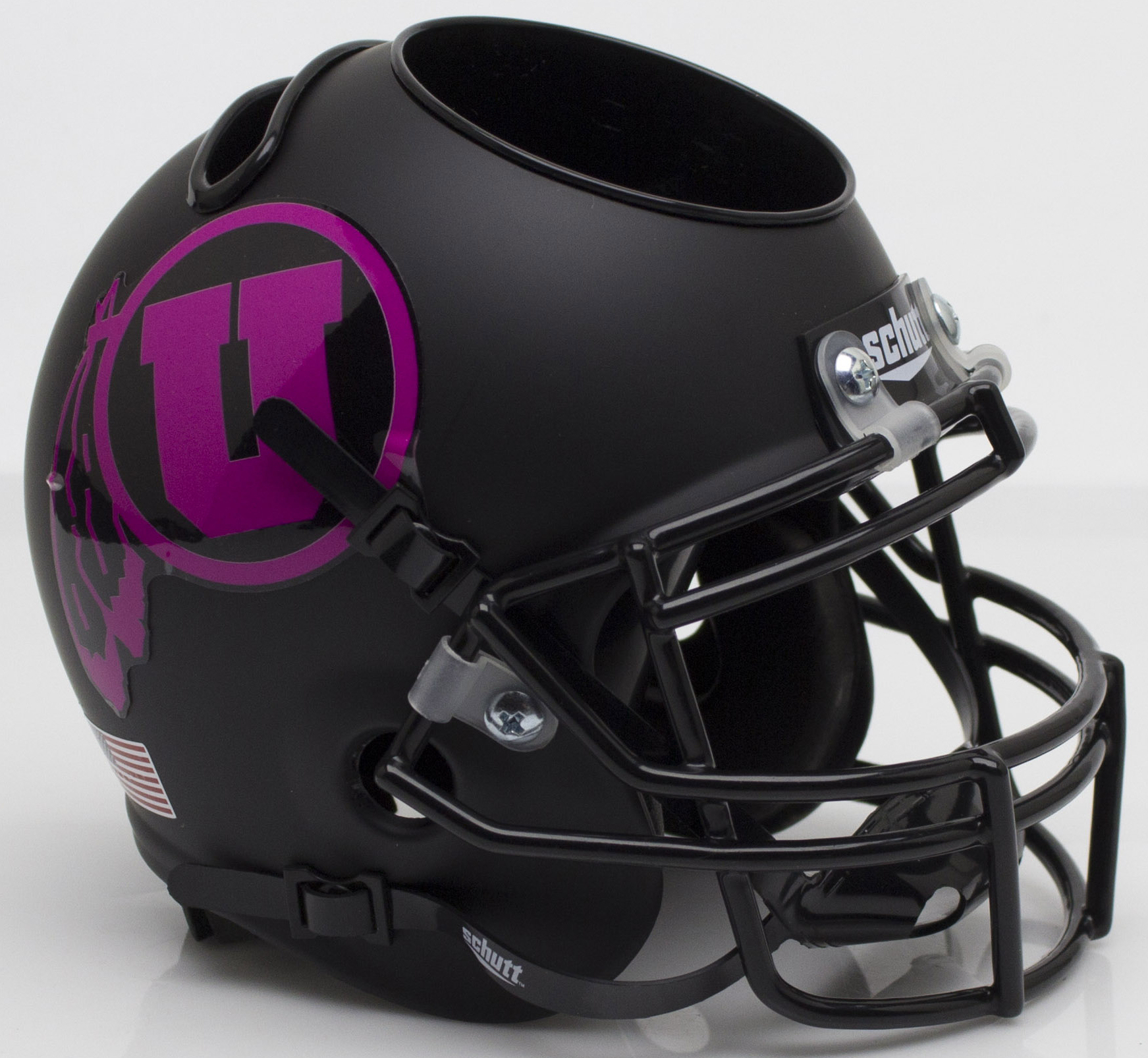 Utah Utes Miniature Football Helmet Desk Caddy <B>Pink</B>