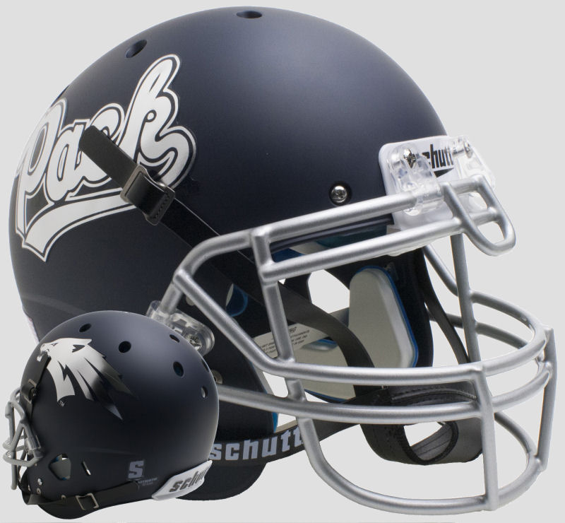 Nevada Wolfpack Authentic College XP Football Helmet Schutt <B>Matte Navy</B>