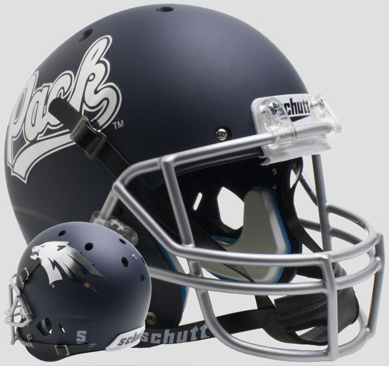 Nevada Wolfpack Full XP Replica Football Helmet Schutt <B>Matte Navy</B>