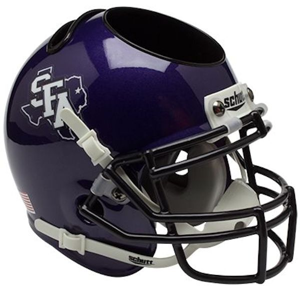 Stephen F Austin Miniature Football Helmet Desk Caddy