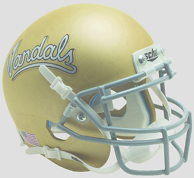 Idaho Vandals Mini XP Authentic Helmet Schutt <B>Matte Gold</B>
