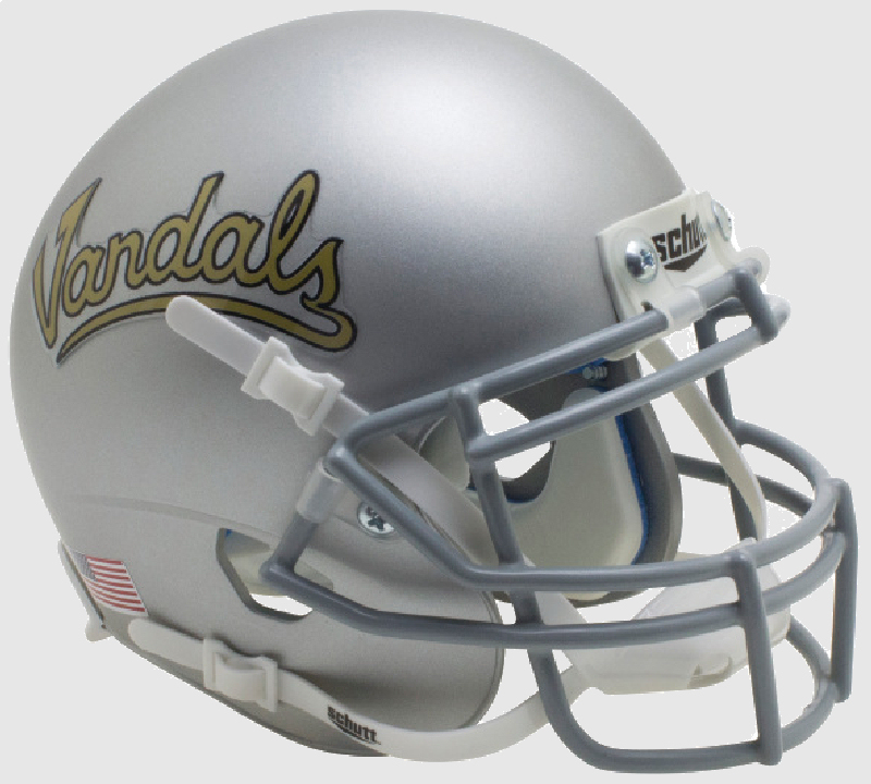 Idaho Vandals Mini XP Authentic Helmet Schutt <B>Silver Vandals</B>