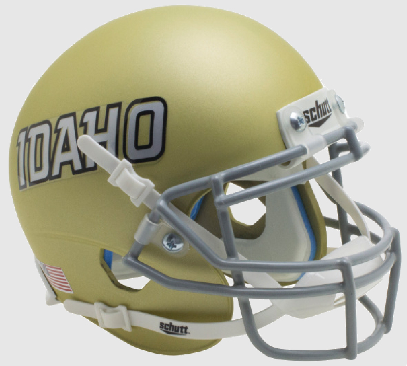 Idaho Vandals Mini XP Authentic Helmet Schutt <B>Gold Idaho</B>