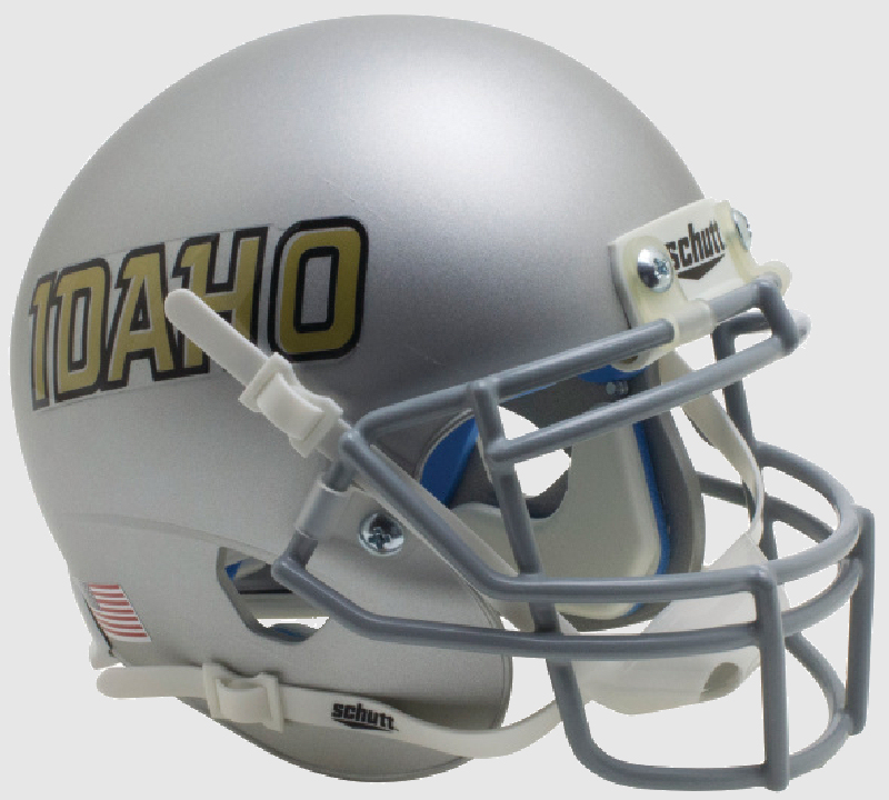 Idaho Vandals Mini XP Authentic Helmet Schutt <B>Silver Idaho</B>