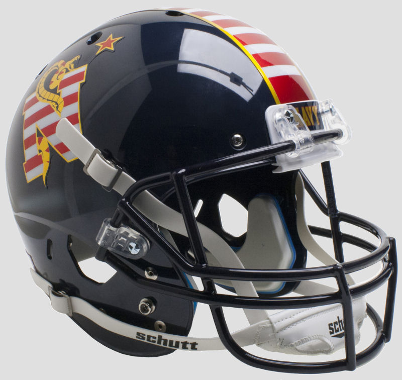 Navy Midshipmen Full XP Replica Football Helmet Schutt <B>Dont Tread On Me</B>