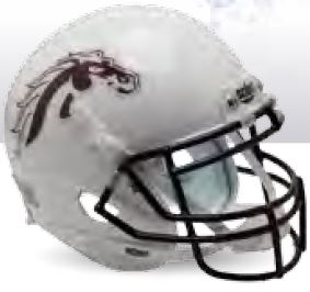 Western Michigan Broncos Authentic College XP Football Helmet Schutt <B>White</B>