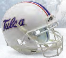 Tulsa Golden Hurricane Full XP Replica Football Helmet Schutt <B>White</B>