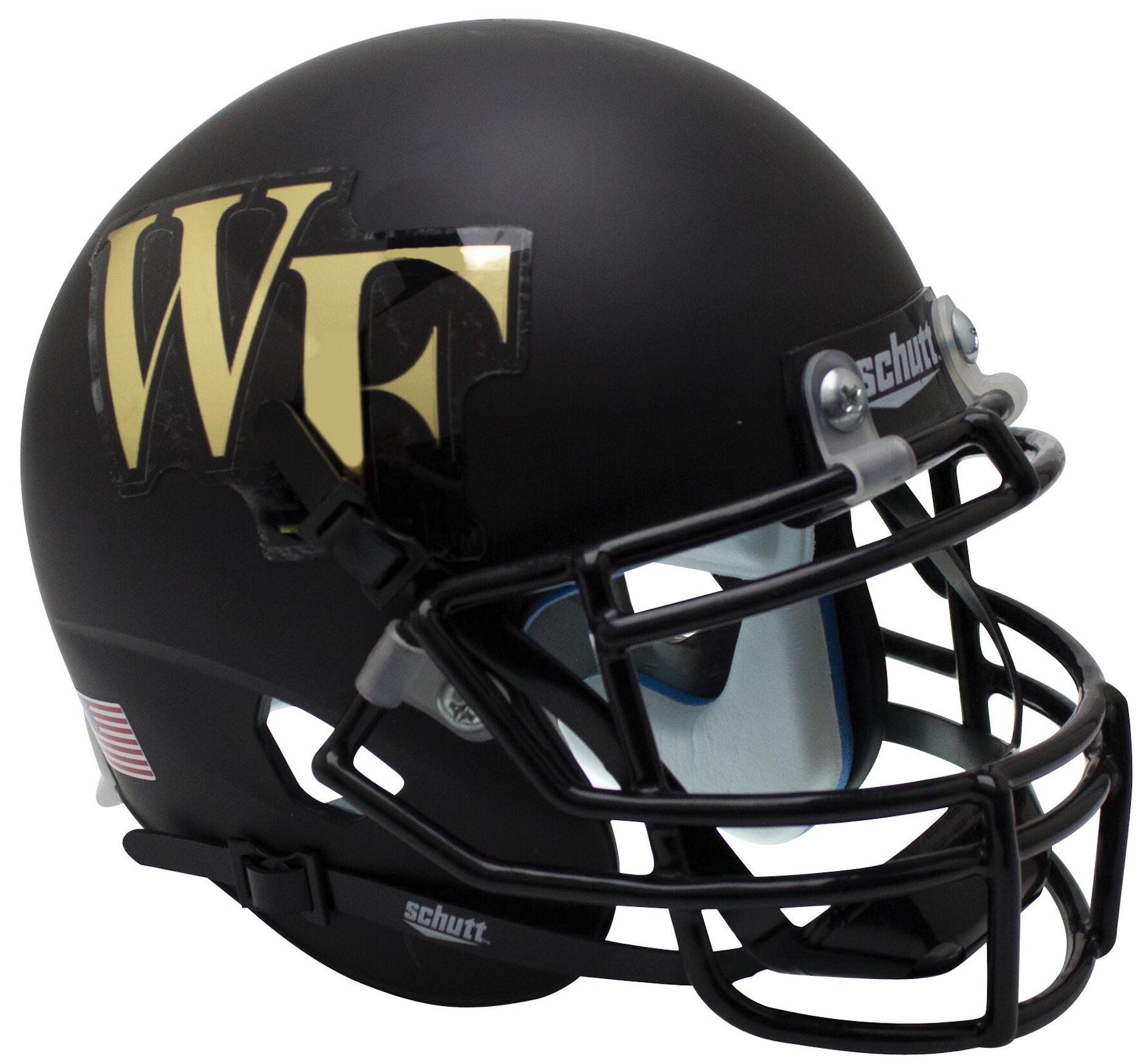 Wake Forest Demon Deacons Full XP Replica Football Helmet Schutt <B>Matte Black</B>