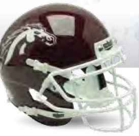 Western Michigan Broncos Full XP Replica Football Helmet Schutt <B>Brown</B>