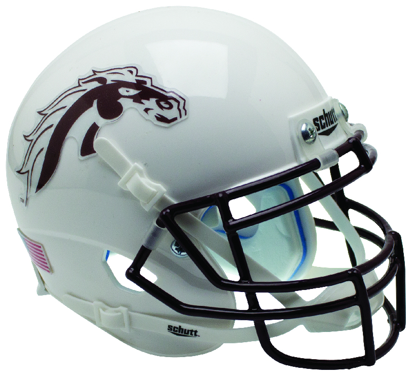 Western Michigan Broncos Mini XP Authentic Helmet Schutt <B>White</B>