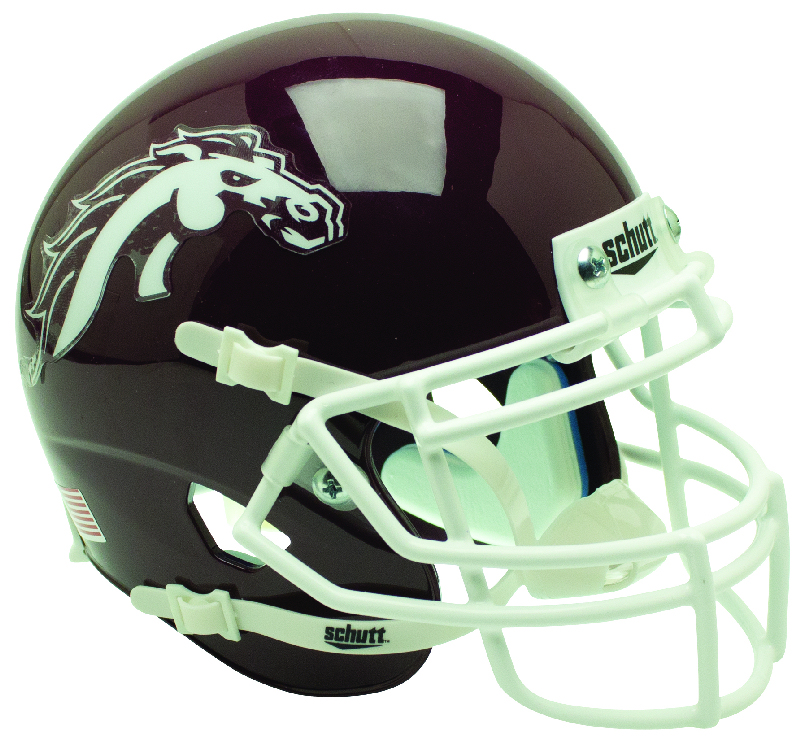 Western Michigan Broncos Mini XP Authentic Helmet Schutt <B>Brown</B>
