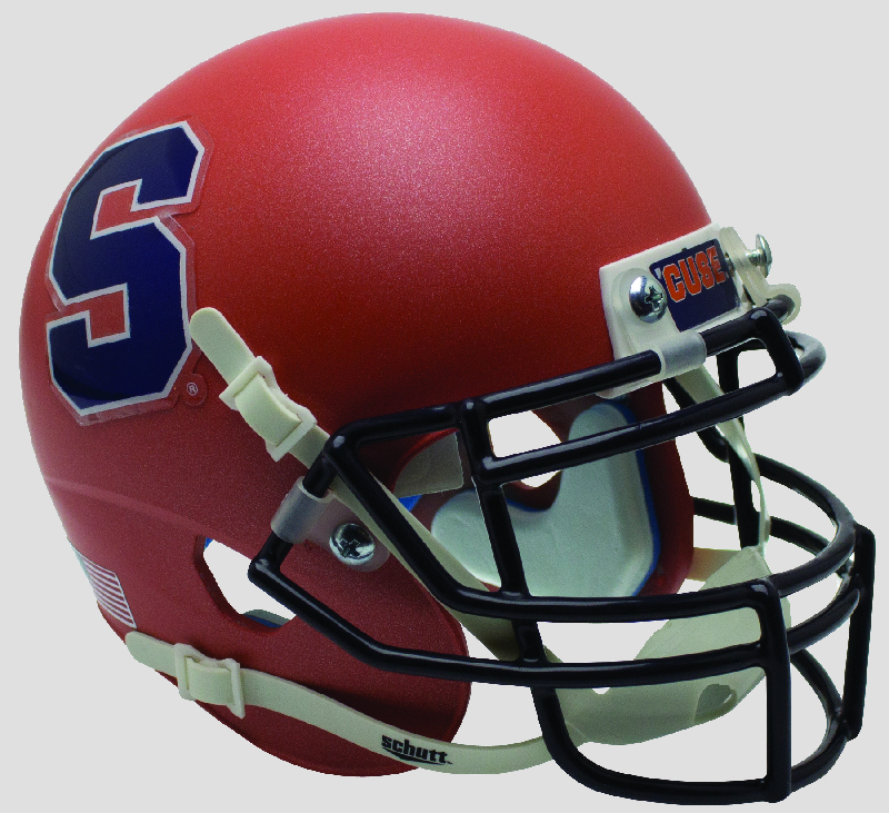 Syracuse Orangemen Miniature Football Helmet Desk Caddy <B>Matte Orange S Outline</B>