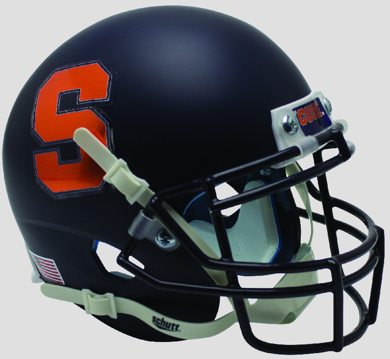 Syracuse Orangemen Miniature Football Helmet Desk Caddy <B>Matte Navy</B>