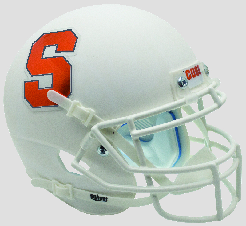 Syracuse Orangemen Miniature Football Helmet Desk Caddy <B>Matte White</B>