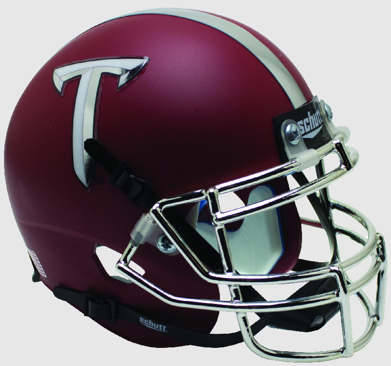 Troy State Trojans Miniature Football Helmet Desk Caddy <B>Matte Red</B>