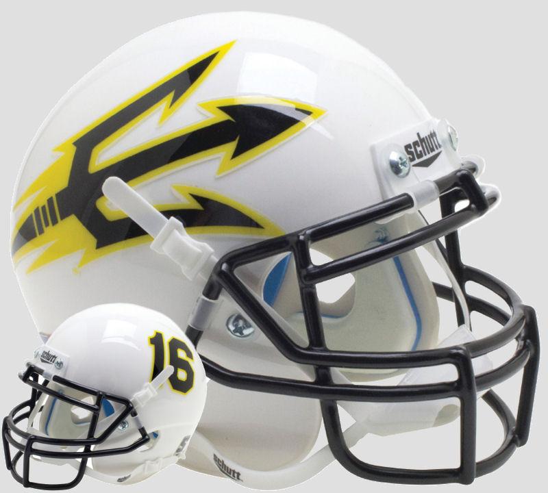 Arizona State Sun Devils Full XP Replica Football Helmet Schutt <B>Black Spear 2016</B>