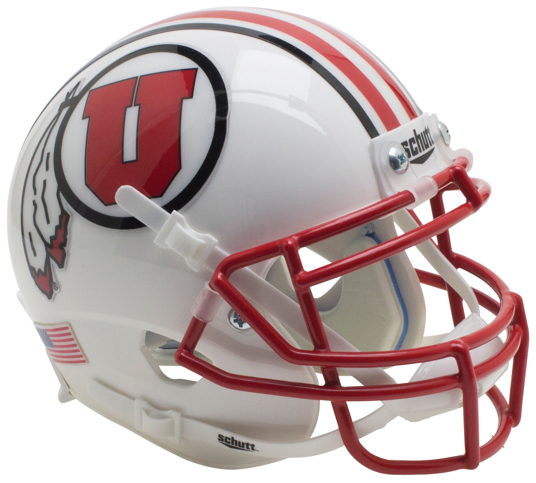 Utah Utes Mini XP Authentic Helmet Schutt <B>2016 White<B>