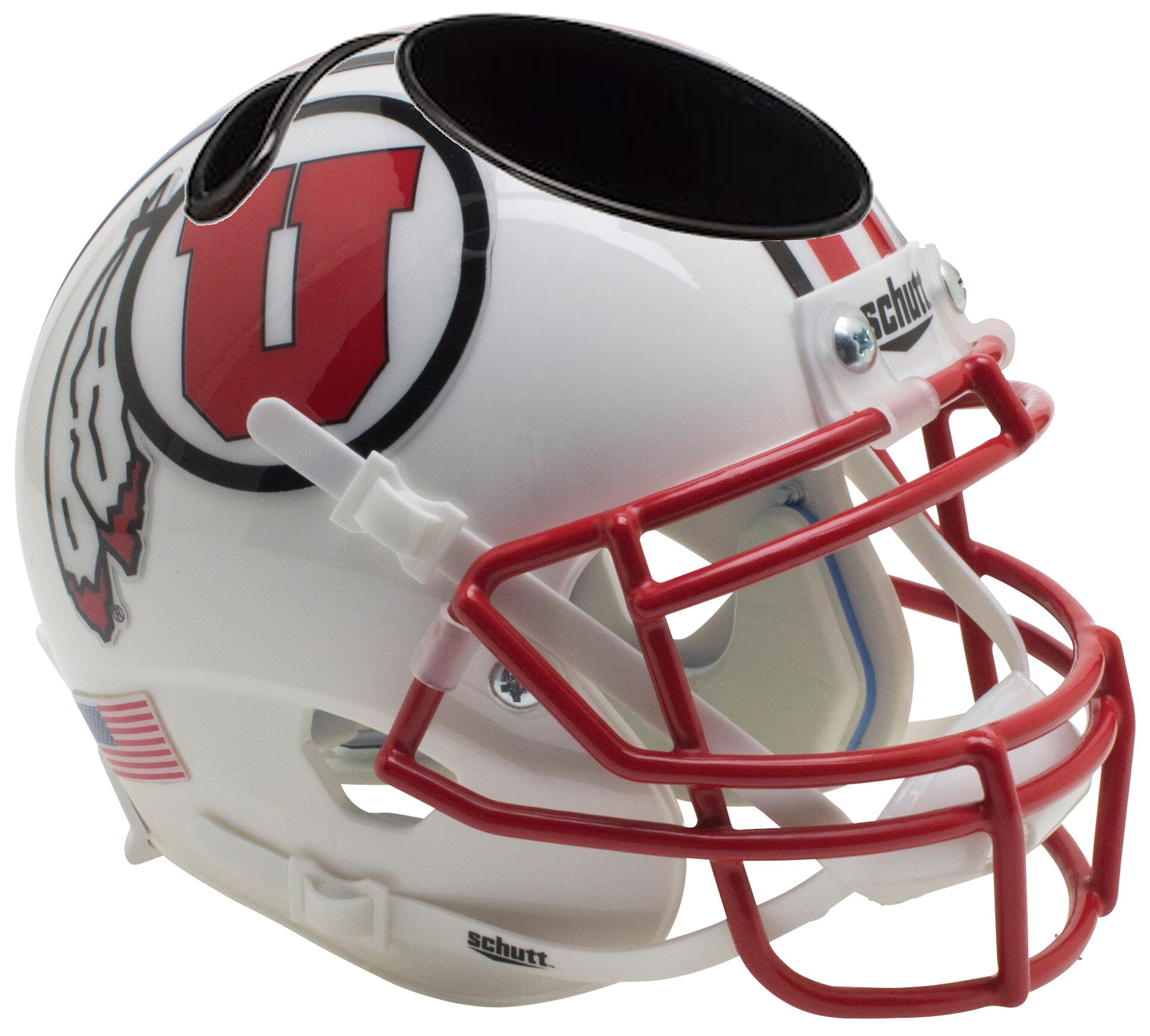 Utah Utes Miniature Football Helmet Desk Caddy <B>2016 White</B>
