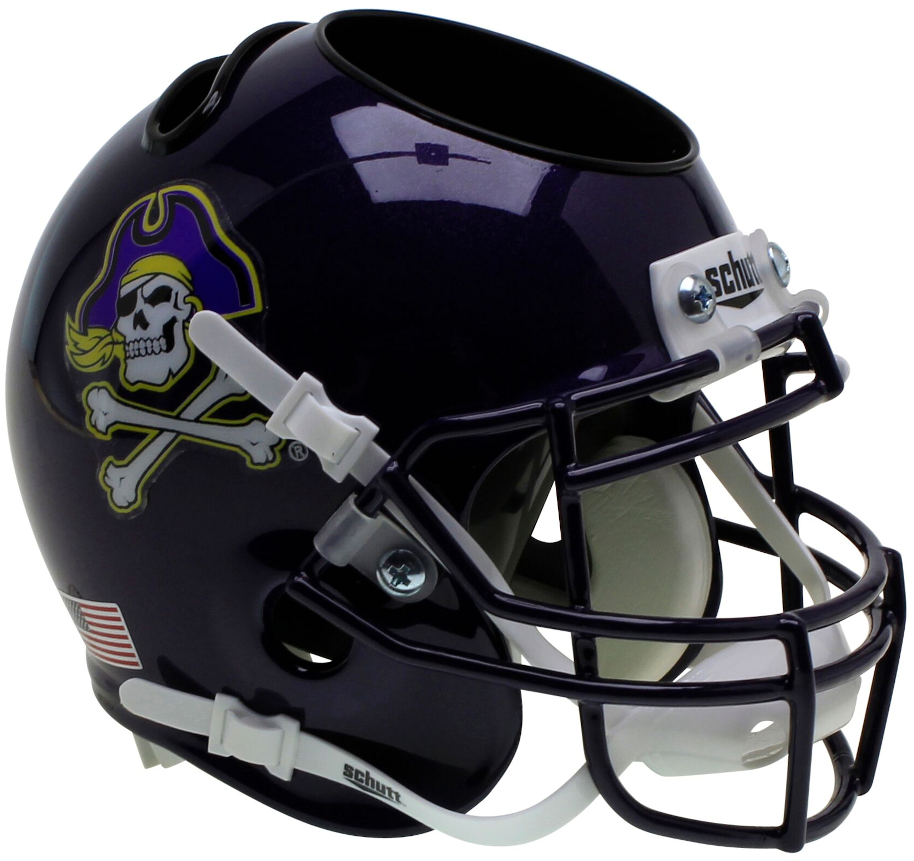 East Carolina Pirates Miniature Football Helmet Desk Caddy