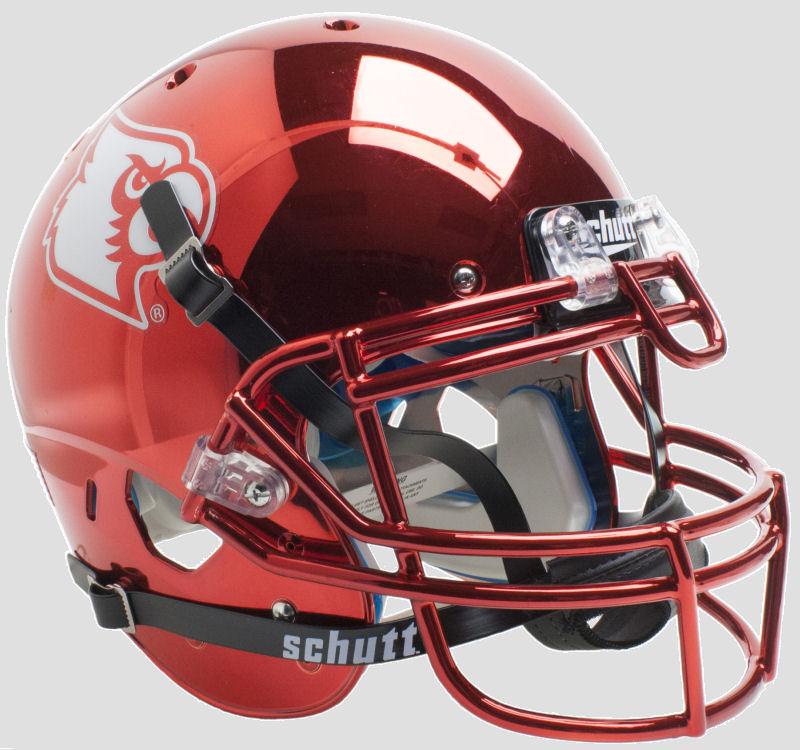 Louisville Cardinals Authentic College XP Football Helmet Schutt <B>Red Chrome</B>