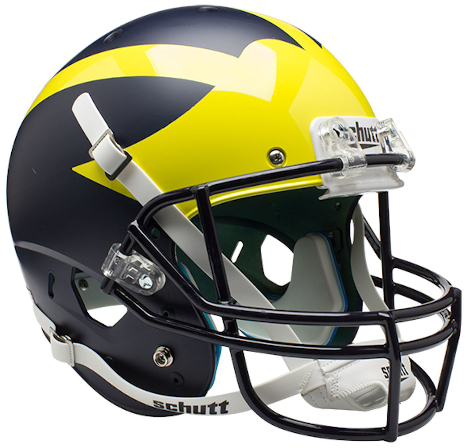 Michigan Wolverines Full XP Replica Football Helmet Schutt <B>2016 Satin Blue</B>
