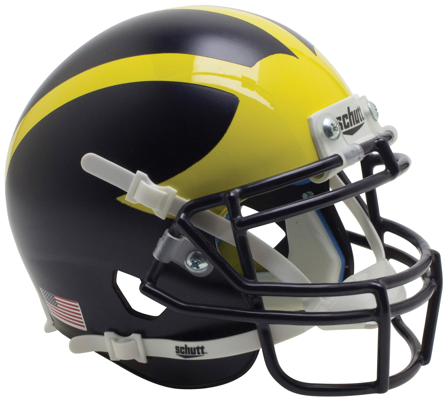 Michigan Wolverines Mini XP Authentic Helmet Schutt <B>2016 Satin Blue</B>
