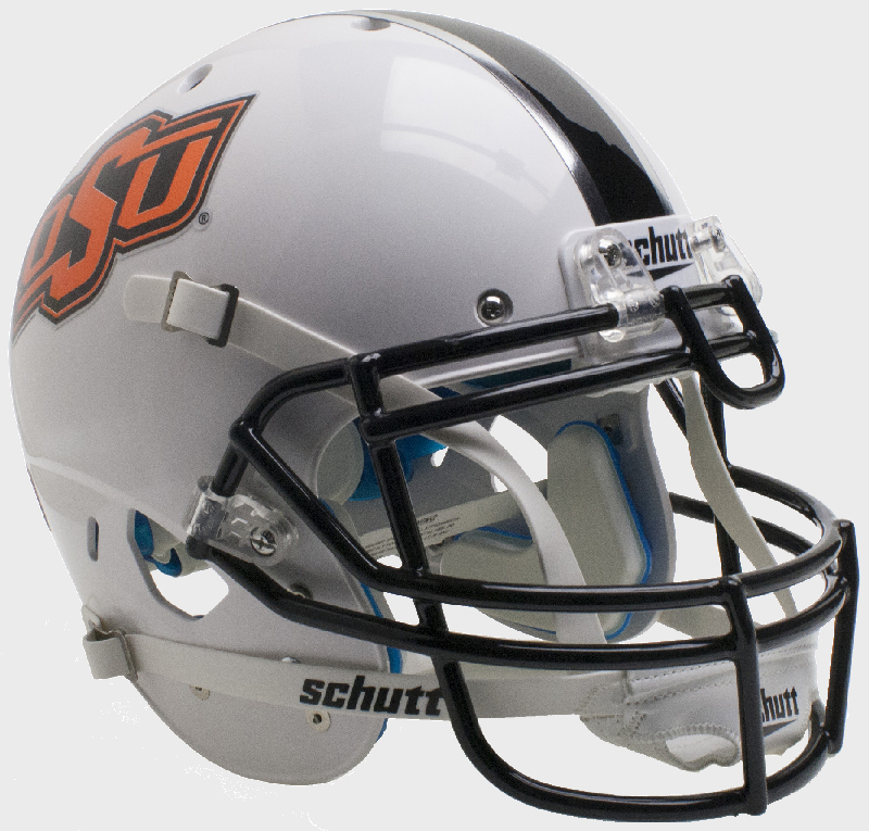 Oklahoma State Cowboys Authentic College XP Football Helmet Schutt <B>WH/BK/GY</B>