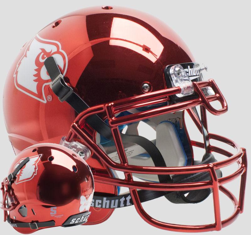 Louisville Cardinals Authentic College XP Football Helmet Schutt <B>Red Chrome Ali</B>