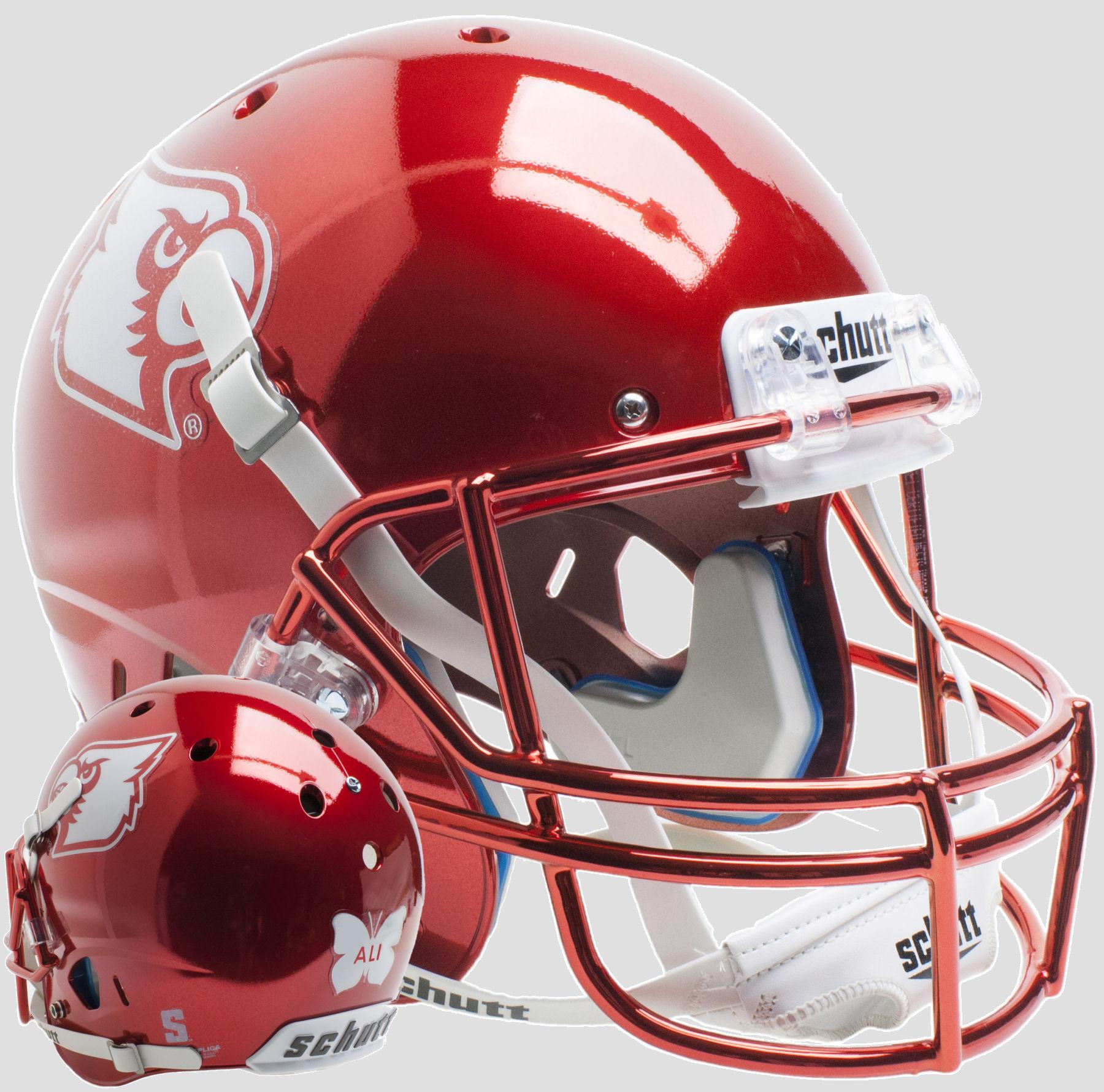 Louisville Cardinals Full XP Replica Football Helmet Schutt <B>Red Chrome Ali</B>