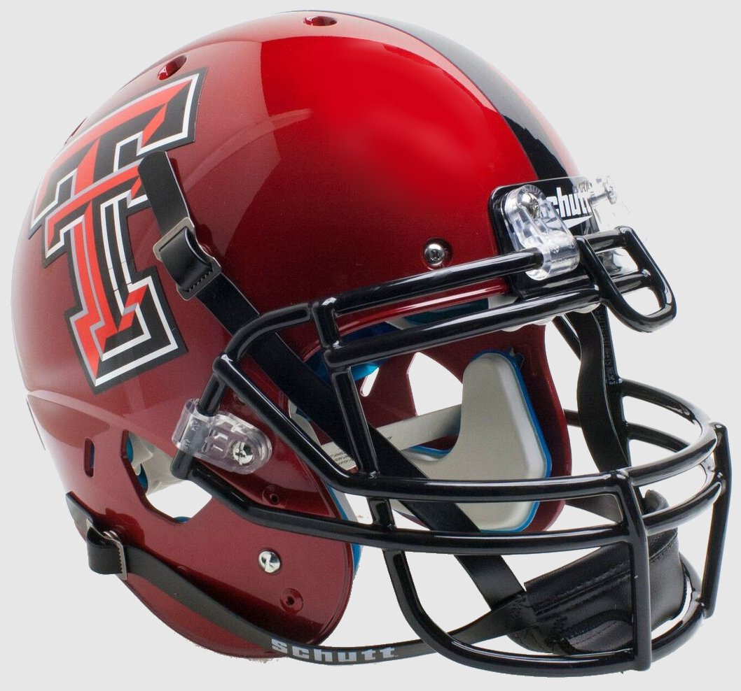 Texas Tech Red Raiders Authentic College XP Football Helmet Schutt <B>Red Guns Up</B>