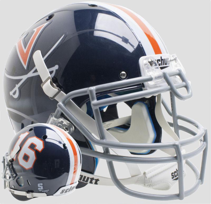 Virginia Cavaliers Authentic College XP Football Helmet Schutt <B>Blue 16</B>
