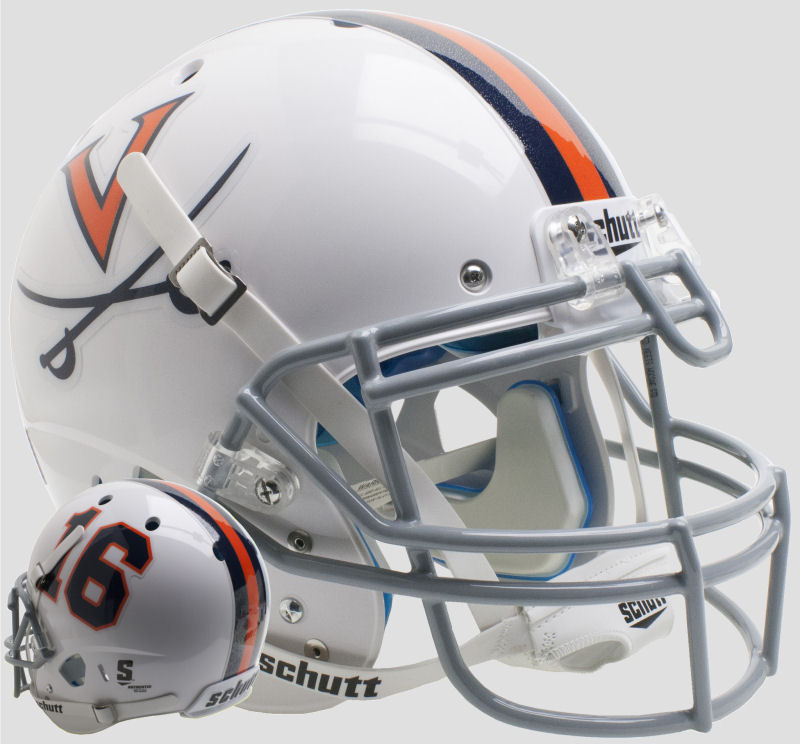 Virginia Cavaliers Authentic College XP Football Helmet Schutt <B>White 16</B>