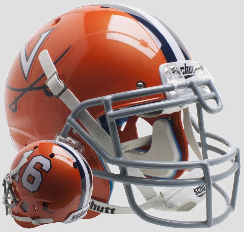 Virginia Cavaliers Authentic College XP Football Helmet Schutt <B>Orange 16</B>