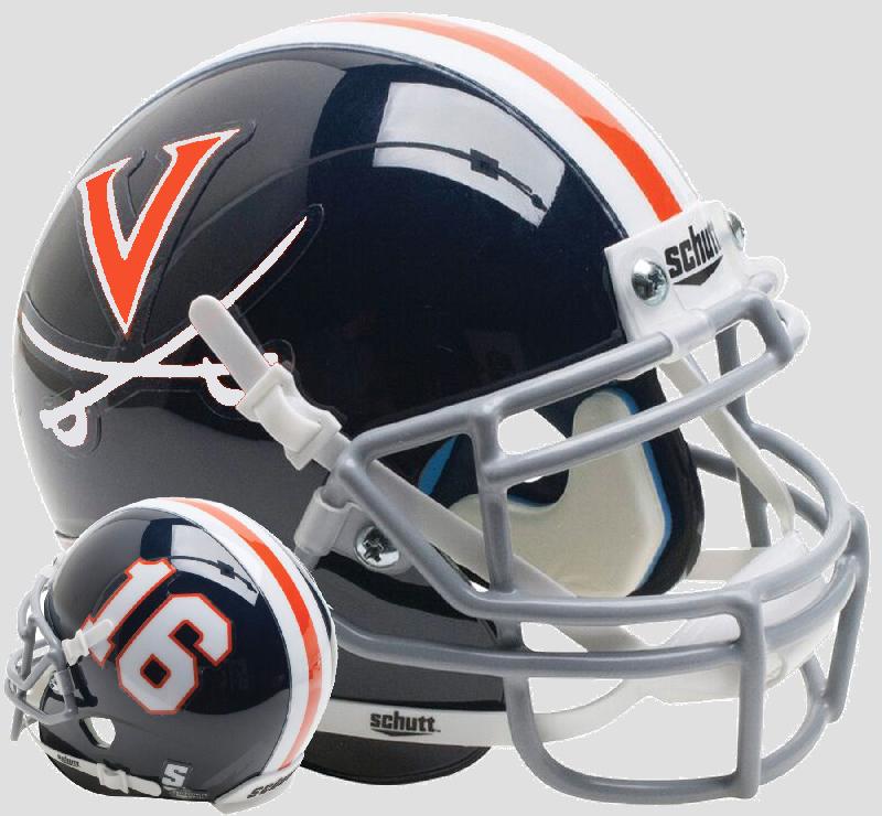 Virginia Cavaliers Mini XP Authentic Helmet Schutt <B>Blue 16</B>