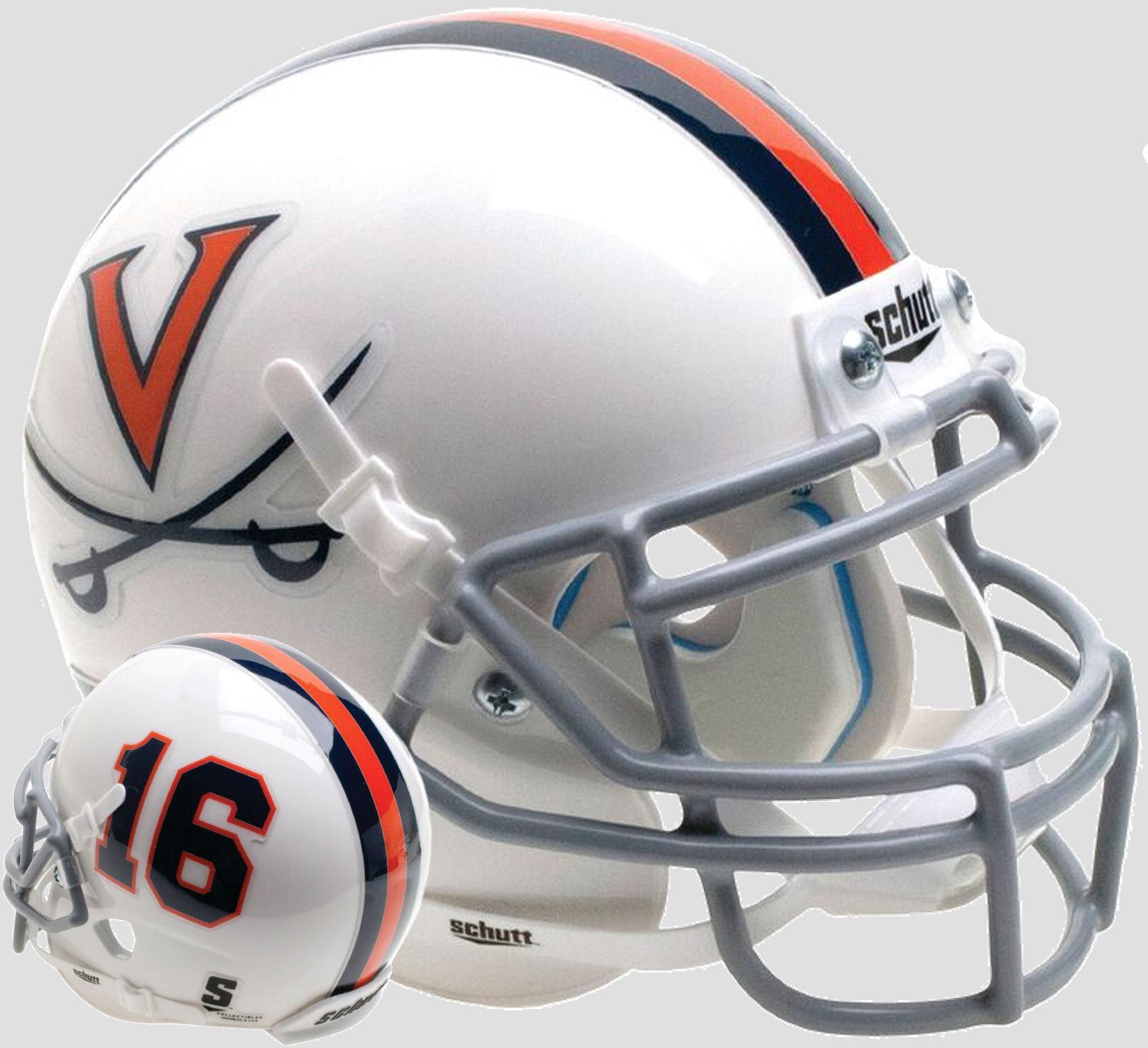 Virginia Cavaliers Mini XP Authentic Helmet Schutt <B>White 16</B>