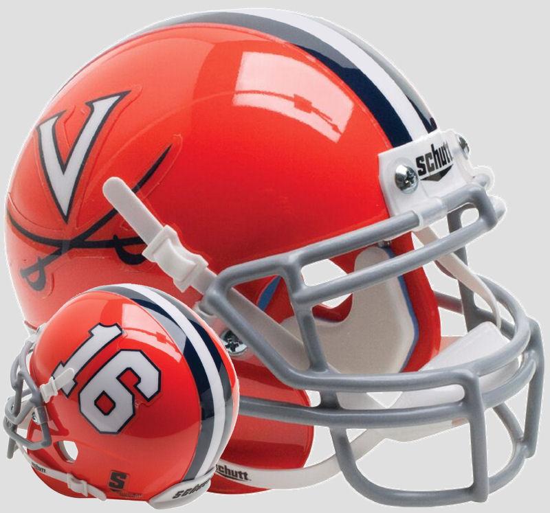 Virginia Cavaliers Mini XP Authentic Helmet Schutt <B>Orange 16</B>